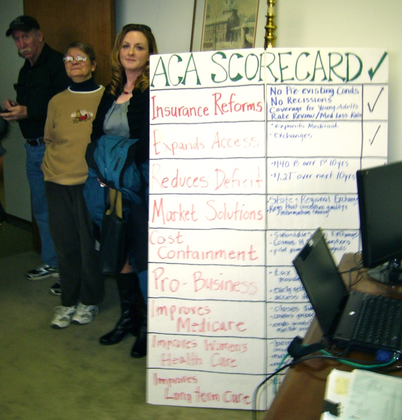 Delivery of Affordable Care Act Scorecard to Rep. Fitzpatrick