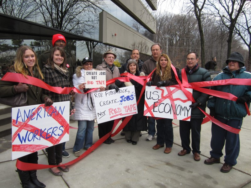 Protest Against Barriers to Unemployment Insurance Benefits