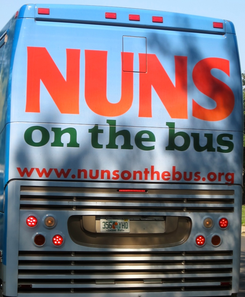 Nuns on the bus stop to visit Cong. Fitzpatrick (PA-08)
